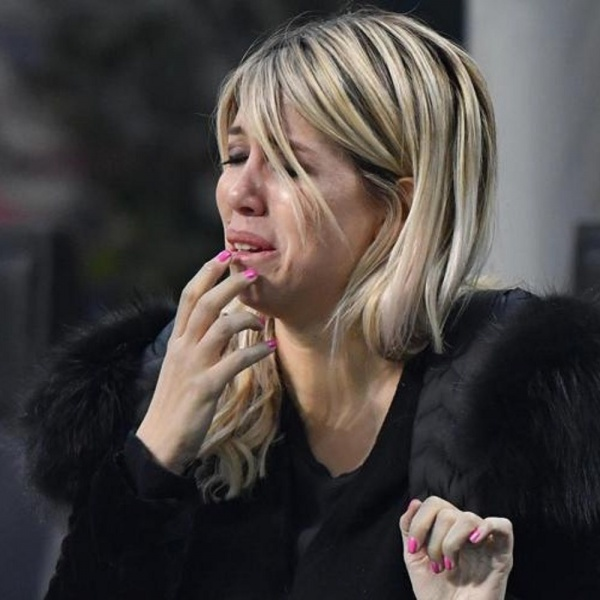 Inter eliminata dalla Champions, Wanda Nara scoppia in lacrime