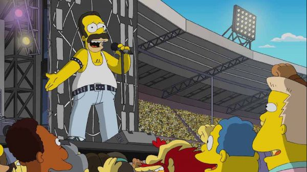 Queen, l'esibizione al Live Aid in un episodio dei Simpsons
