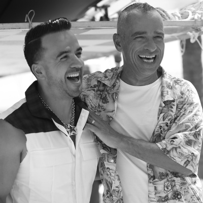 Eros Ramazzotti e Luis Fonsi a RTL 102.5 - ospiti in The Flight